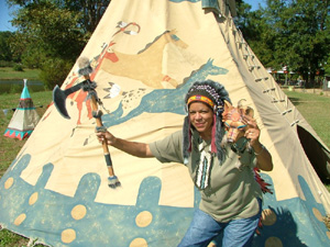 Pictures of authentic indian tee pees something is